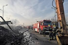 张家口化工厂乙炔爆炸燃烧:爆炸声震三公里